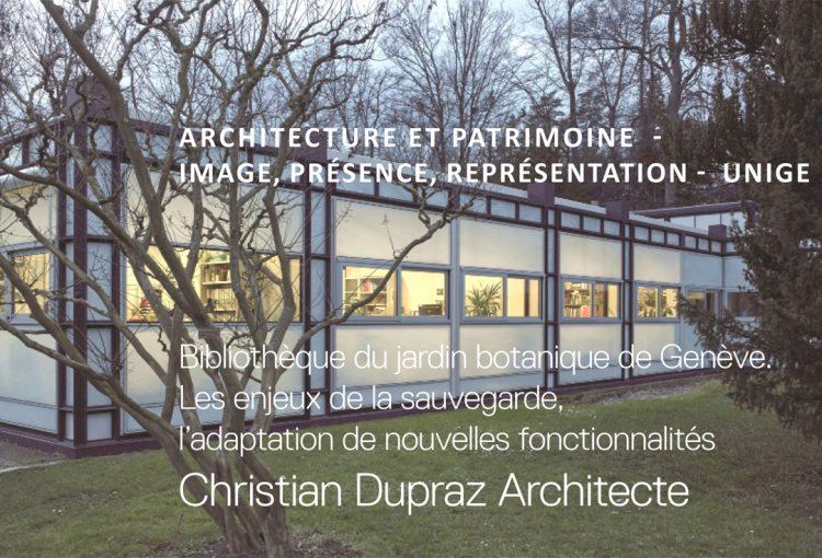 ©CHRISTIAN DUPRAZ ARCHITECTURE OFFICE_Conférence UNIGE CJB
